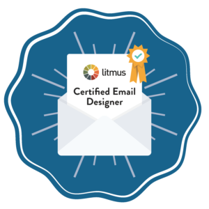 Litmus Certified Email Designer Badgge